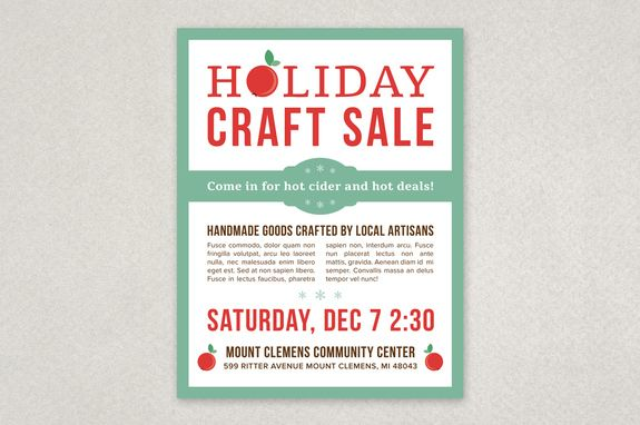 Creative Holiday Sale Flyer Template - A modern, subdued holiday - holiday flyer template example 2