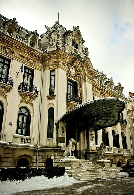 Cantacuzino Palace, Bucharest Romania. A gem of Neo-Baroque architecture, George Enescu National Museum