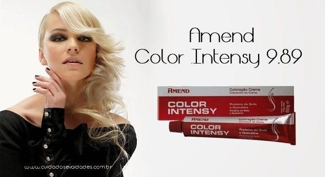 Tonalização: Amend Color Intensy 9.89 @CosmeticosAmend - Cuidados e Vaidades http://www.cuidadosevaidades.com.br/2012/10/tonalizacao-amend-color-intensy-989.html