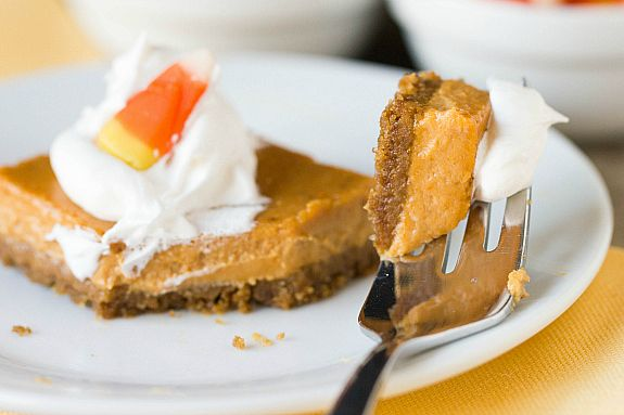 ... BARS made with brown sugar, evaporated milk, gingersnap cookie crust