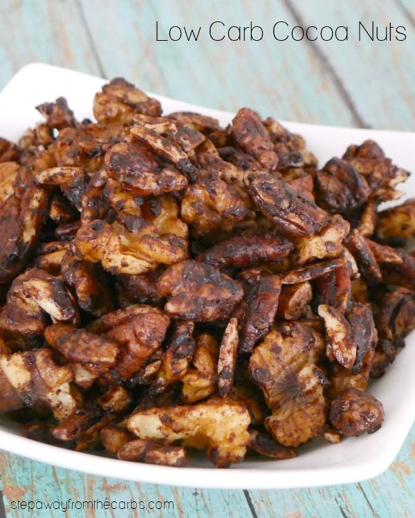 Low Carb Cocoa Nuts - made in the slow cooker - the perfect low carb snack!