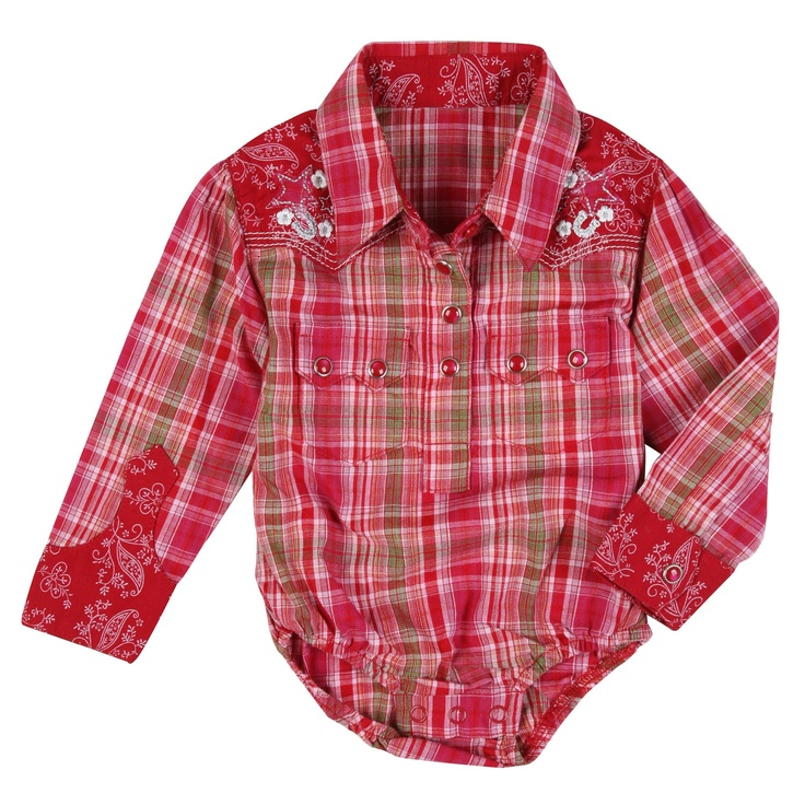 Cowgirl Newborn Outfits | ... Around Baby Red Plaid Star ...