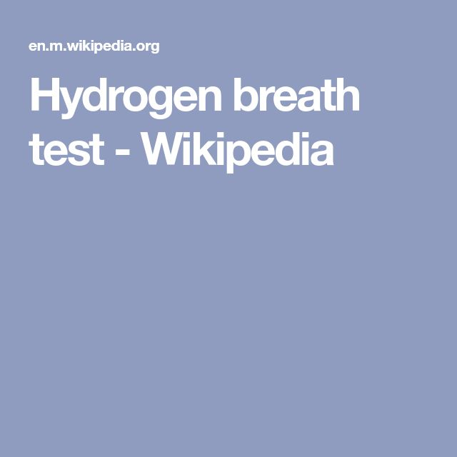 Hydrogen breath test - Wikipedia