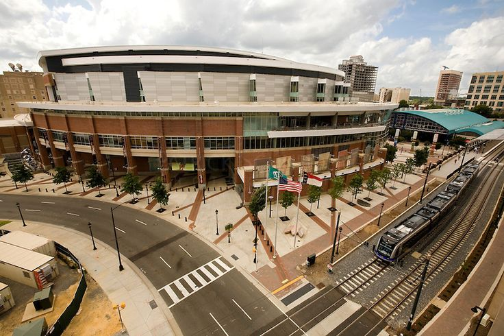 The Time Warner Cable Arena in Charlotte, North Carolina opened in October of 2005 as home to the Charlotte Bobcats NBA team. It also hosted the 2012 Democratic National Convention.