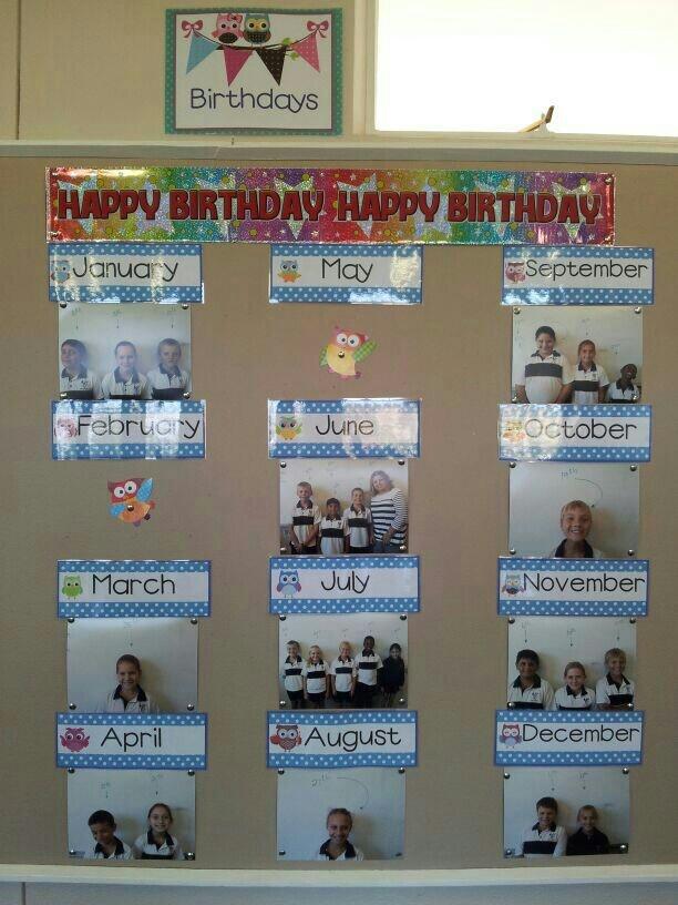 Birthday calendar in my classroom!