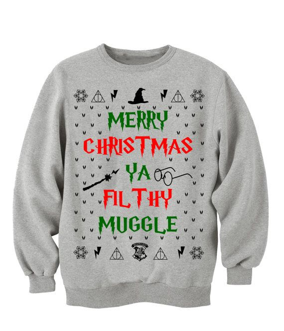 "Ugly Christmas Sweater ""MERRY CHRISTMAS. Ya FILTHY Animal!"" Off the shoulder. sweater. man. Home Alone. Sweater"