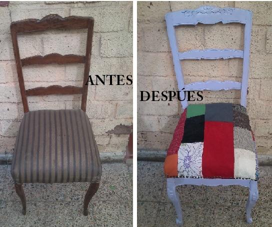 Antes y después silla normando