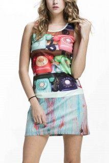 Culito from Spain barevné šaty Telefono - 1390 Kč