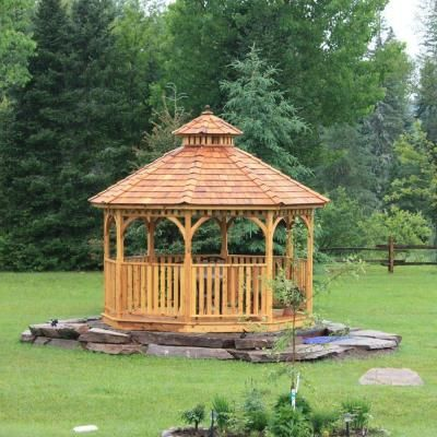 Outdoor Living Today 12 ft. Octagon Bayside Panelized Gazebo-Bayside12 - The Home Depot