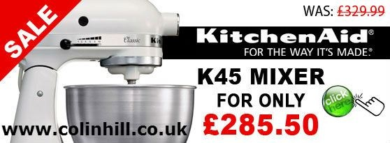 High quality foods at homes can be prepared with the help of kitchen Aid K45 Mixer models. Details about these machines are also available from leading on-line suppliers for comparing products to choose the best one. For more info http://www.colinhill.co.uk/ps-5096--kitchenaid-k45-mixer.aspx .