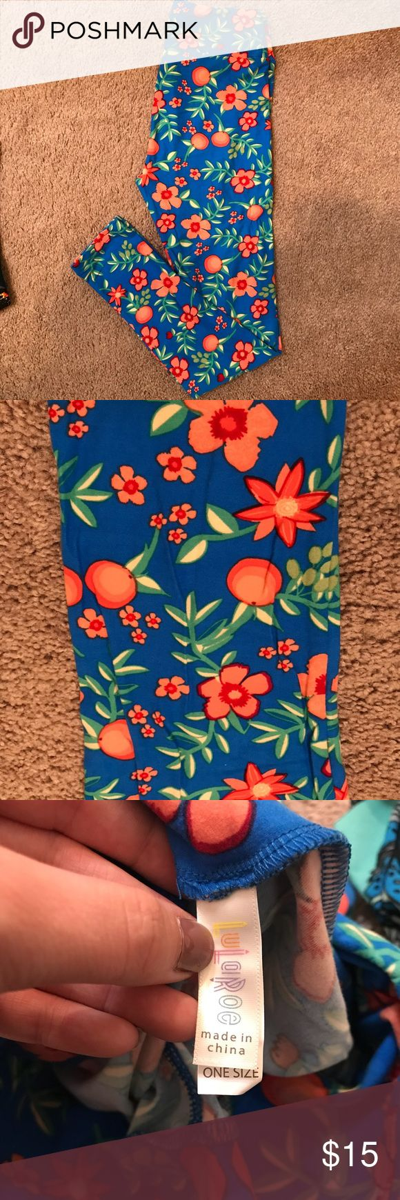 OS LulaRoe Leggings! Worn 1x. If you don't know, these are the softest leggings out there right now! I've only worn each 1 time. I have too many to keep track of so I want to sell them to someone who will really make use of them :) I am 5'4 140 pounds. They fit me fine and even have extra room. LuLaRoe Pants Leggings