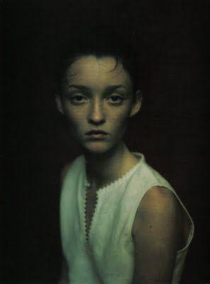 """""""Ritratti di Allora"""" Audrey Marnay   photo by Paolo Roversi for Vogue Italia April 1998"""