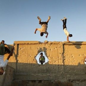 Free running / parkour. Check out the Tempest free running academy:http://www.youtube.com/watch?v=1fouvwilGWc