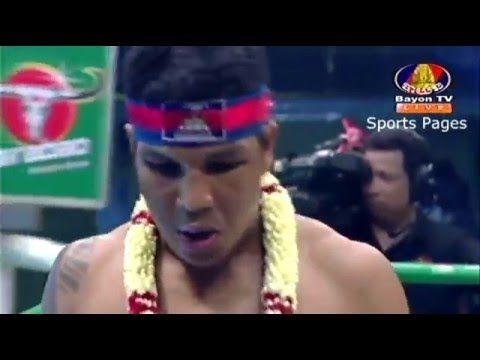 Kun Khmer, Pich Seyha (Khmer) Vs Rambo Sophsak Muaythai Gym (Thai) 05 De...
