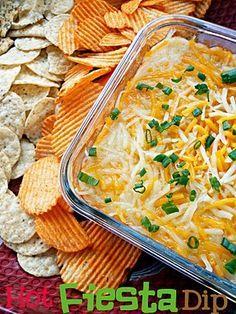 Hot Fiesta Dip.  Great for parties and potlucks!