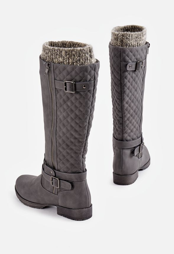9d10d11595b6 Cayte Flat Boot in Gray - Get great deals at JustFab