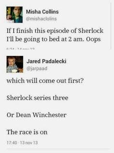 OMG - Supernatural - Jared Padalecki, Misha Collins, Jensen Ackles. Superwholock