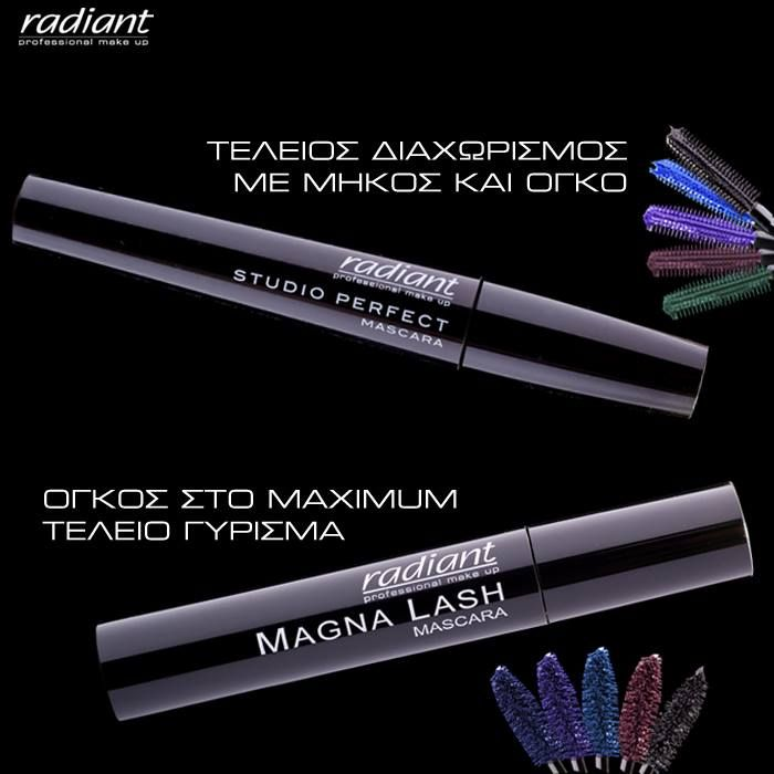 #Studio #Perfect for definition & length. #Magna #Lash for irresistible volume & perfectly curled lashes. #Eyes #Mascara #Radiant #Professional #Makeup