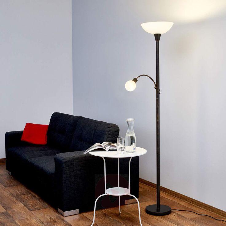 Rustfarget LED-takspot Elaina med leselampe-9620010-01