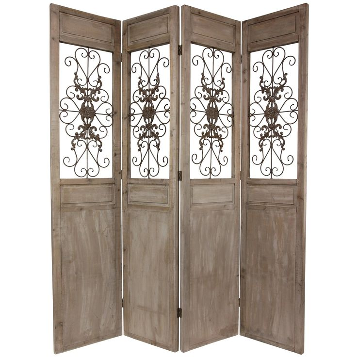 Enhance and divide your home with this large room divider featuring four  distinct panels that each - 111 Best Home Decor: Divider Screens Images On Pinterest Room