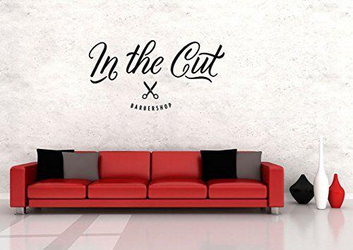 Vinyl Wall Decal Sticker Bedroom barber shop name company scissors v7 CreativeWallDecals http://www.amazon.com/dp/B00UM2MZNQ/ref=cm_sw_r_pi_dp_OwLavb1NM8EX8