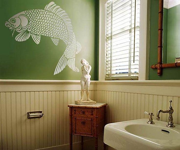 Japanese Koi Fish Stencil