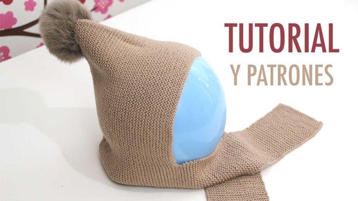 DIY Cómo hacer gorro de lana con bufanda (talla 6 a 18 meses)