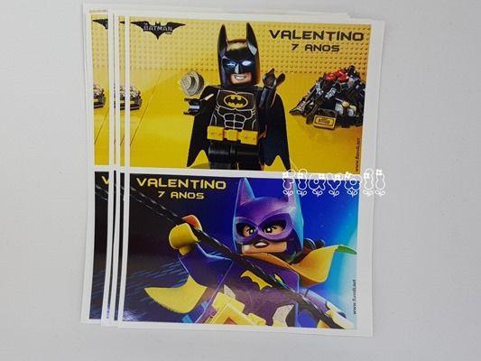 Etiquetas impermeáveis para baldes de pipoca Batman Lego  :: flavoli.net - Papelaria Personalizada :: Contato: (21) 98-836-0113 - Também no WhatsApp! vendas@flavoli.net