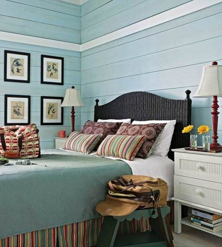 Interior Tropical Turquoise Bedroom Color With Rainbow