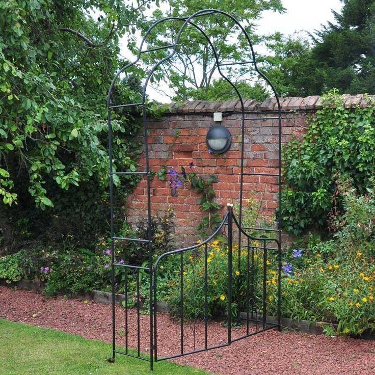 Metal Garden Arch Pergola Twin Gate Arbor Gazebo Pergola