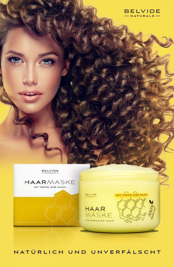 Haarmaske Aus Naturlichen Inhaltsstoffen Mit Honig Und Milch