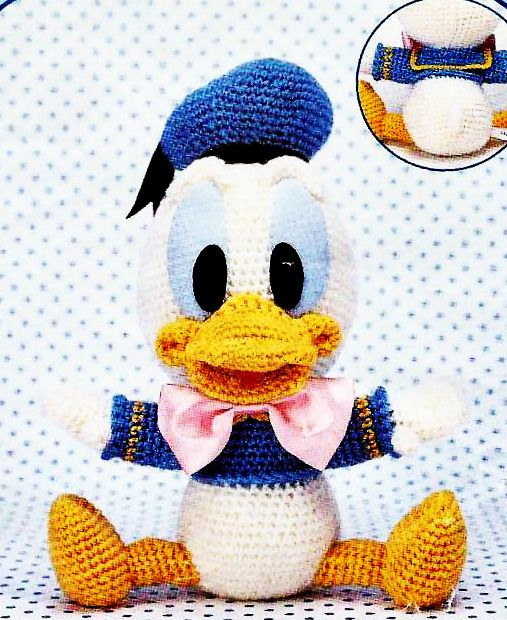 Ebook crochet amigurumi Donald Duck PDF Pattern