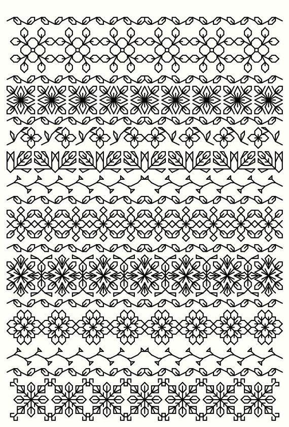 BlackworkSammlung...20 Lesezeichen 40 Schneeflocken von sebadesigns                                                                                                                                                                                 Mehr