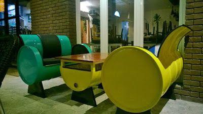 Galeri Umah Tong Inspirasi Model Drum Bekas Untuk Furniture Cafe Unik & Minimalis Modern