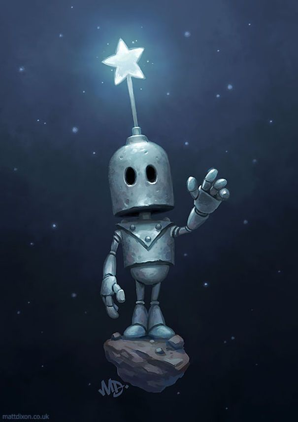 Robots And The Wonder of Life  Robot art Robots artworks Robot painting