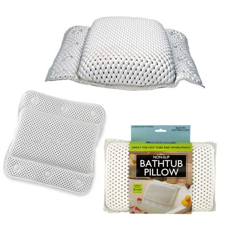 Non Slip Bathtub Pillow With Suction Cups