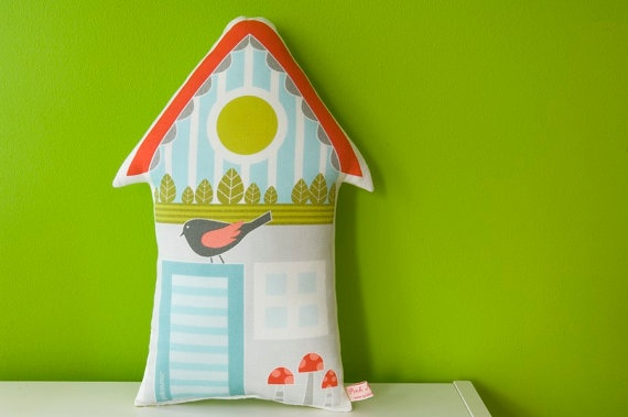 toysSweets Home, Kids Stuff, House Pillows, Kids Room, Living Room, Decor House, Birdhouses Pillows, High Quality, Sweet Home