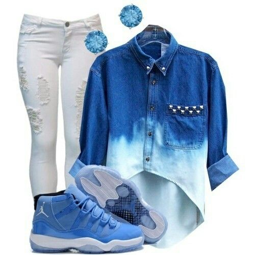 [Personally I would pair these with Air J7 and corresponding jewelry ...but that's just me ;)] Jordan Outfit