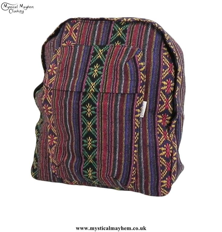 Multicoloured Thai Gheri Cotton Hippy Festival Backpack Rucksack