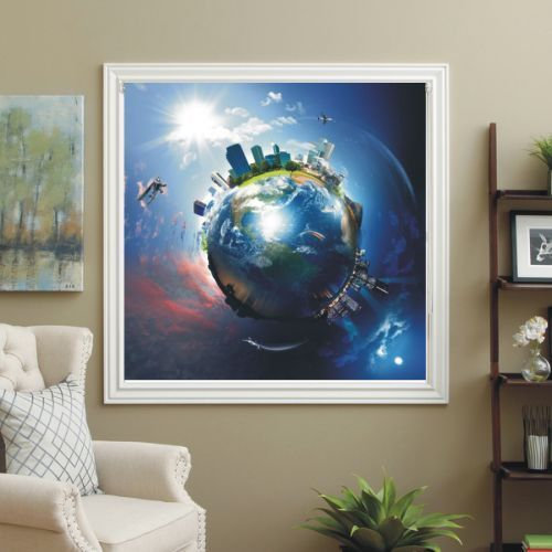 BLACKOUT PHOTO ROLLER BLINDS, PICTURE BLINDS THE EARTH