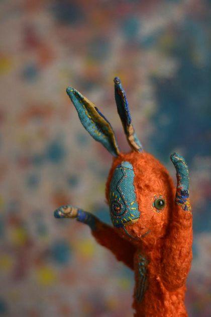 Teddy Bunny / Мишки Тедди ручной работы. Ярмарка Мастеров - ручная работа. Купить дикомятный заяц. Handmade. Рыжий, подарок, немецкая вискоза