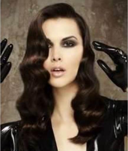 Finger Waves Wedding Hairstyle: Long Hair, Finger Waves