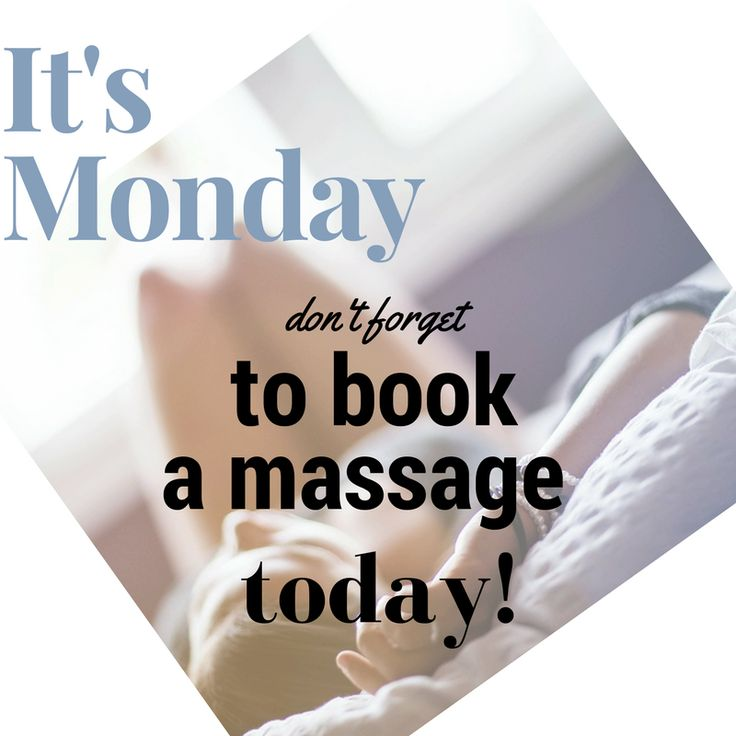 It's Monday! Schedule a visit and experience the New London Massage difference. newlondonmassagetherapy.com