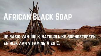 African Black Soap (zwarte zeep) is een authentieke en traditioneel handgemaakte zeep door vrouwen uit West-Afrika. Op basis van 100% natuurlijke grondstoffen.