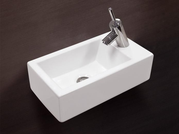White Stone Hox Mini Above/Wall Basin Right 2500x4500x1300