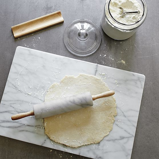 French Kitchen Marble Rolling Pin with Stand | Crate and Barrel