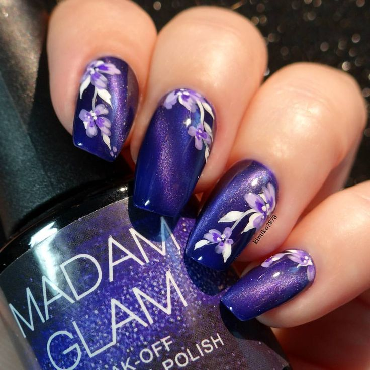 I can't describe or capture how truly beautiful this polish is! This is 'Flying Purple' from @madam_glam. This is a soak off magnetic gel polish. It is simply stunning!! I ordered it a little while ago with two other colors as well as the cat eye magnet. I love these so much I have gone back and ordered more!  Also, I have to say a big thank you to my hometown girl Serene of @copycatclaws, I had mentioned I had ordered some and she came by and dropped off some extra magnets for me!! I can…