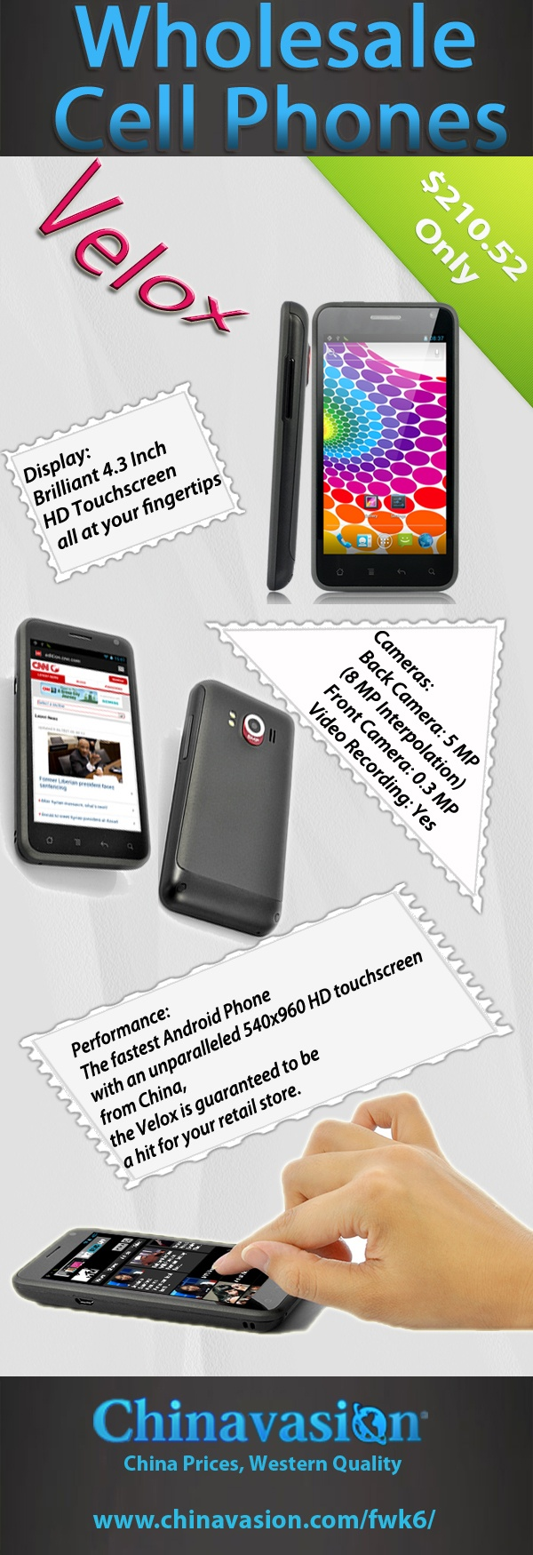 visit http://www.chinavasion.com/china/wholesale/Android_Phones/ to get the wholesale cell phones from chinavasion...