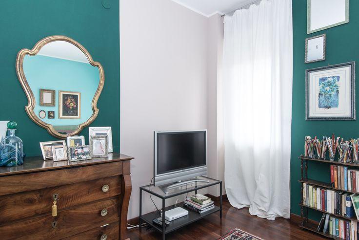 camera da letto color tiffany elegante e raffinata