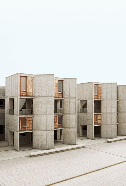 Salk Institute for Biological Studies, La Jolla, California. 1959-1965. Architect: Louis I. Kahn